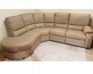 Calia Italia Chiara Leather Corner Sofa