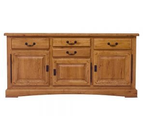 Chateau-3-door-solid oak-sideboard-