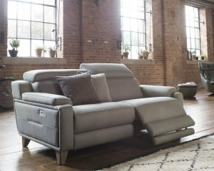 Parker Knoll Evolution 1701 Fabric 2 Seater Power Reclining Sofa