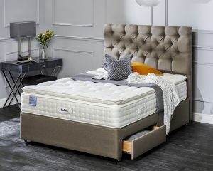 Relyon Ullswater Natural Silk 2200 Pocket Sprung Divan Bed