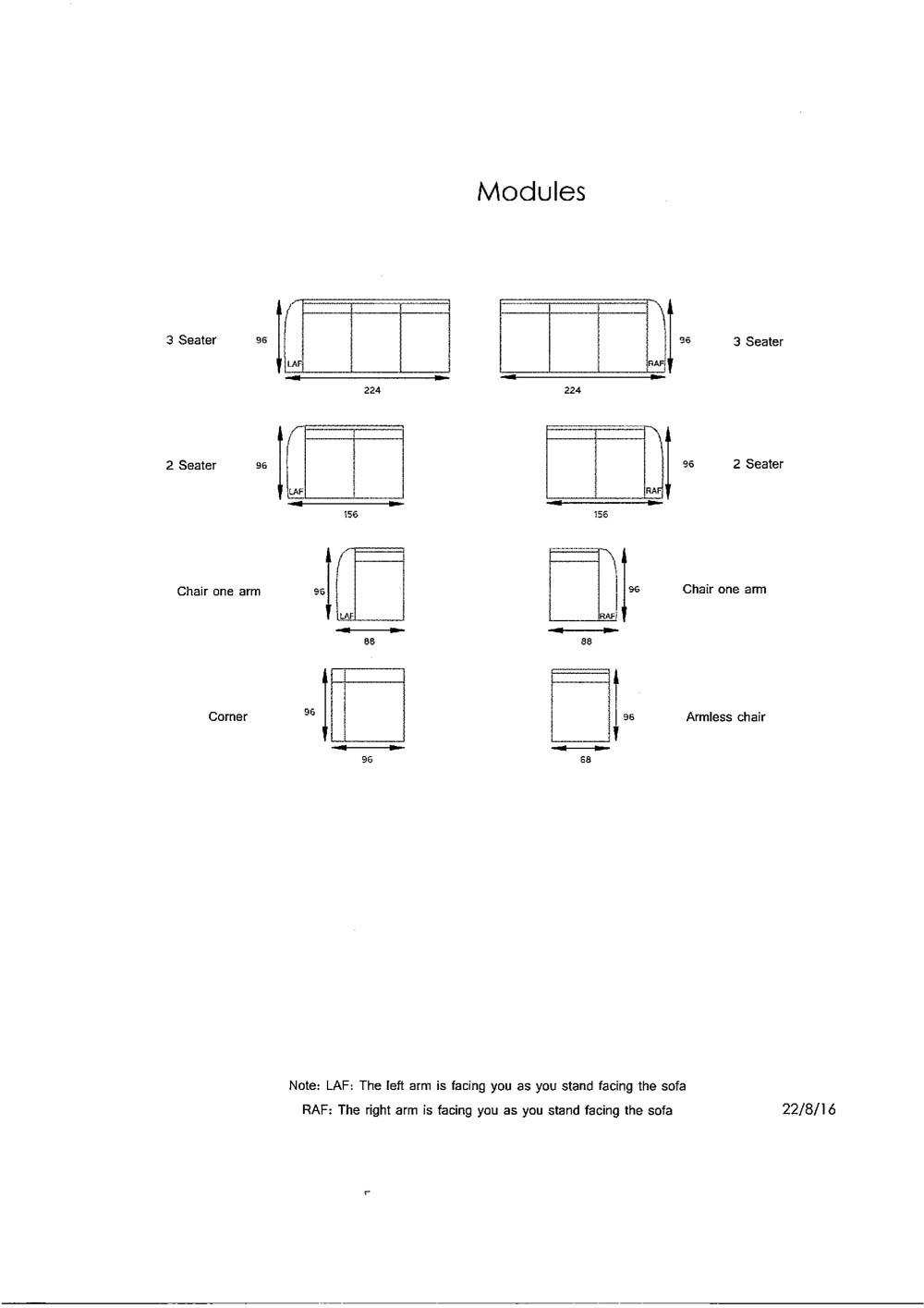Stella 3 Corner Chaise Fabric Modular Corner Sofa