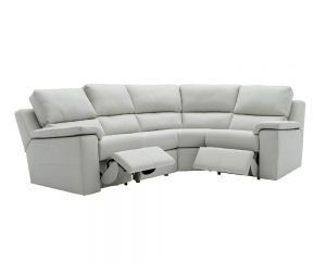 G Plan Taylor Leather Modular Corner Sofa With Power Recliners