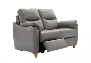 g plan spencer leather 2 seater double power recliner sofa