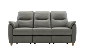 g plan spencer leather 3 seater sofa