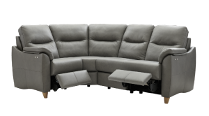 g plan spencer leather modular corner sofa with power reclining actions