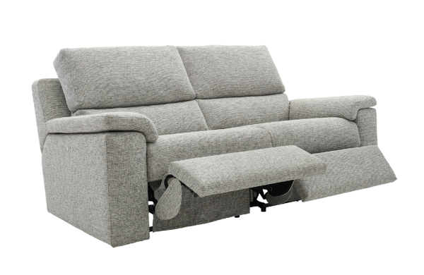g plan taylor fabric 3 seater double recliner sofa