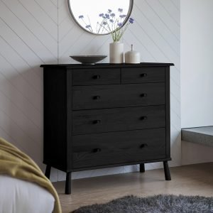 Wycombe Black 5 Drawer Chest