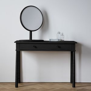 Wycombe Black Dressing Table With Drawer