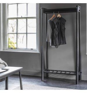 Wycombe Black Open Wardrobe