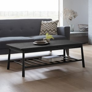 Wycombe Black Rectangular Coffee Table