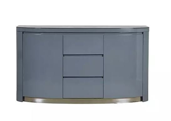 Flow Grey High Gloss Sideboard