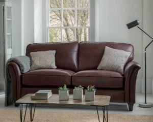 Parker Knoll Devonshire Leather Sofa