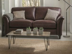 Parker-Knoll-Devonshire-Leather Sofa
