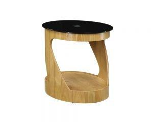 San Marino Round Lamp Table – Oak – JF304