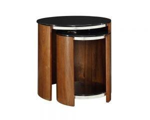 San Marino Round Nest of Tables – Walnut – JF305