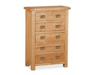 Ely Oak 5 Drawer Chest