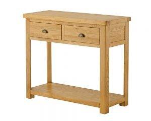 Portland Grand Console Table - oak