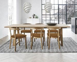 kovby Plant Table Solid Oak Natural Oil SM106EMO & Skovby Chairs solid Oak Chairs Natural Oil SM52EMO