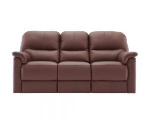Chadwick 3 Seater Recliner Sofa Kensington Conker Front