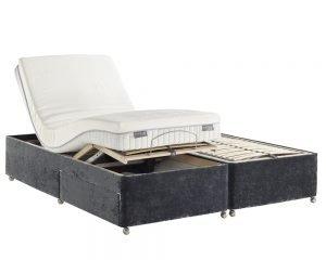Dunlopillo Adjustable Slatted Divan Bed