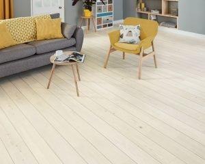 Karndean Knight Tile KP132 Washed Scandi Pine DS12 3mm Living Room